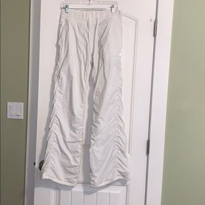 White Lululemon Lined Pants